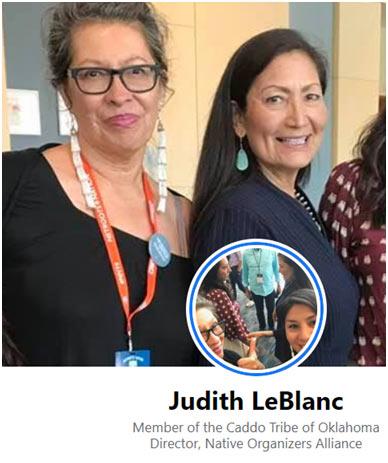 Judith LeBlanc, Deb Haaland July 2019