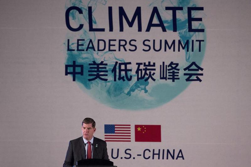 Mayor Walsh address Cities Summit in Beijing, June 2016
