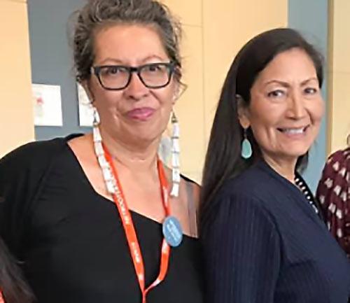 Judith LeBlanc with Deb Haaland July 2020