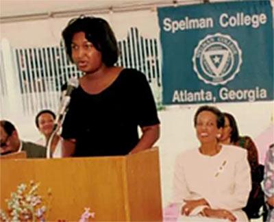 Abrams center, Cole right, Spelman College