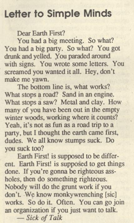 (Wild Rockies Review, Vol. 2, No. 1)